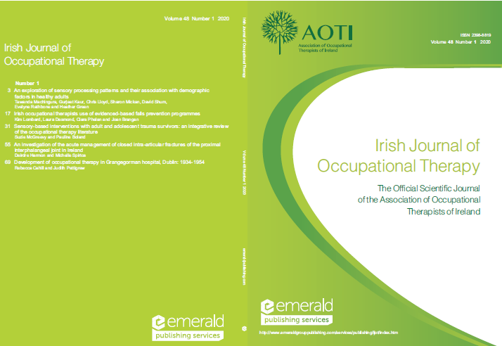 AOTI Irish Journal of Occupational Therapy image